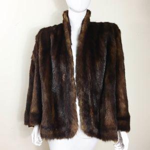 40s Vintage Women's MINK Fur Cape Stole Size Large